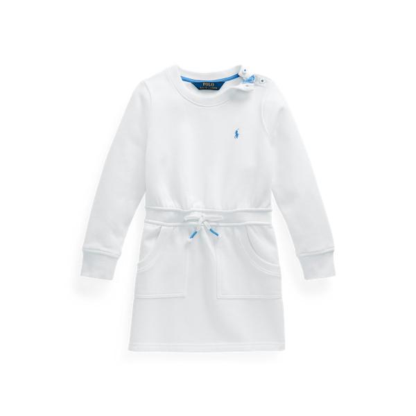 폴로 랄프로렌 여아용 원피스 Polo Ralph Lauren Cotton-Blend-Fleece Dress,White