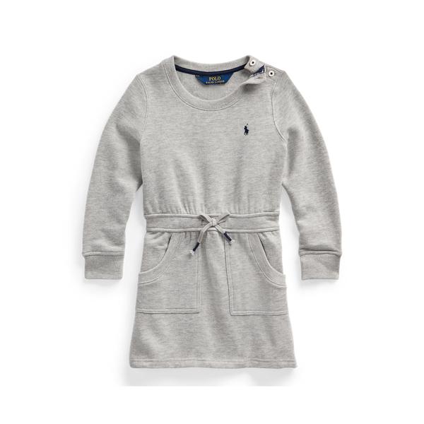폴로 랄프로렌 여아용 원피스 Polo Ralph Lauren Cotton-Blend-Fleece Dress,Andover Heather