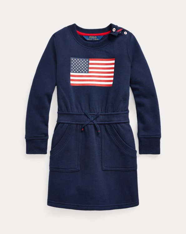 Flag Cotton-Blend-Fleece Dress