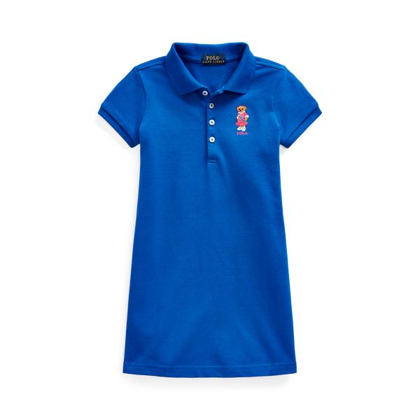 폴로 랄프로렌 여아용 원피스 Polo Ralph Lauren Polo Bear Stretch Mesh Polo Dress,Heritage Blue