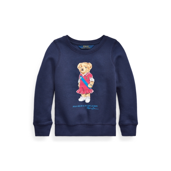 폴로 랄프로렌 여아용 스웻셔츠 Polo Ralph Lauren Polo Bear Fleece Sweatshirt,Newport Navy