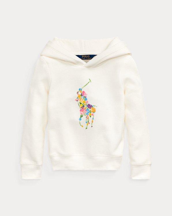 Floral-Pony Fleece Hoodie