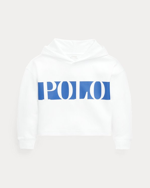 Logo Double-Knit Cropped Hoodie