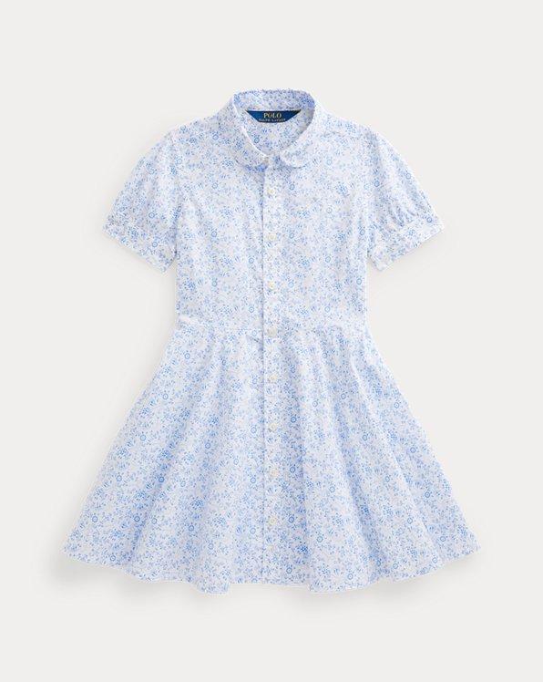 Robe-chemise ancres en coton fleuri