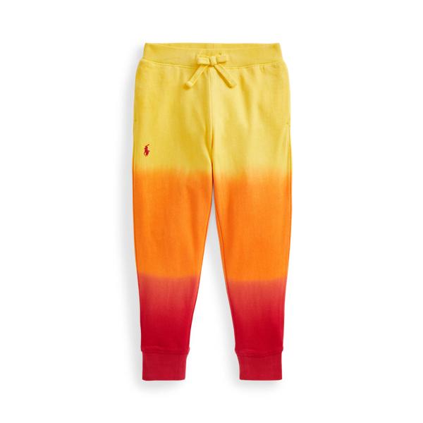 Polo Ralph Lauren Kids' Tie-dye Cotton Terry Jogger In Lemon Crush