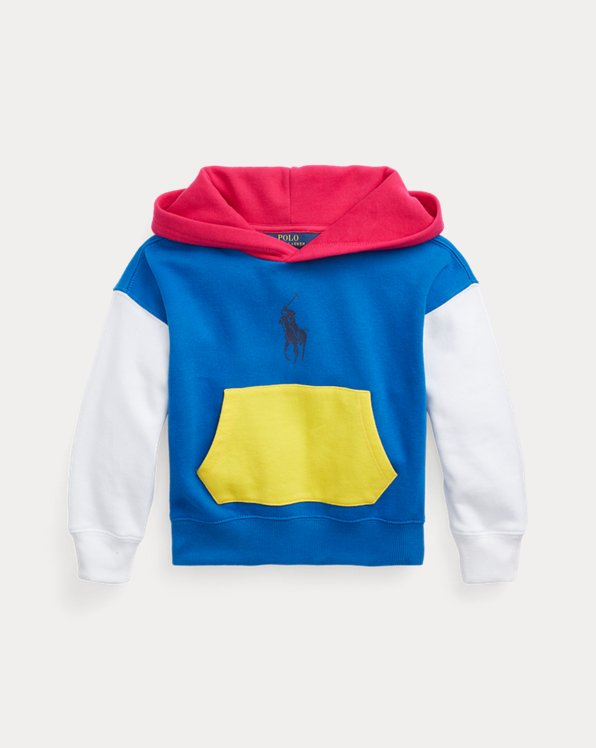 Color-Blocked Fleece Hoodie