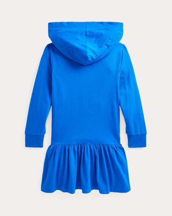 Big Pony Cotton Jersey Hooded Dress