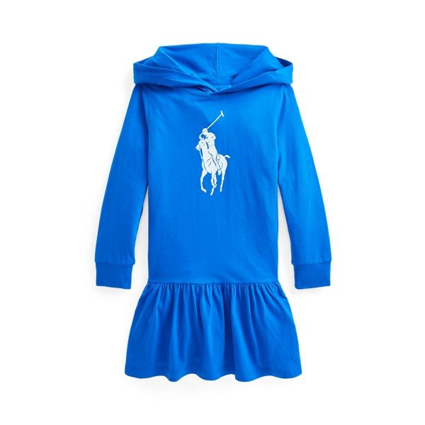 Polo Ralph Lauren BIG PONY COTTON JERSEY HOODED DRESS