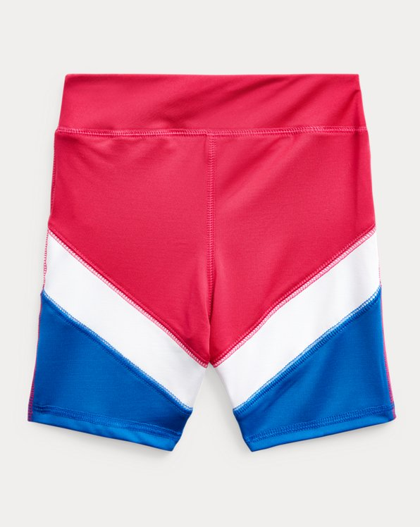 Color-Blocked Stretch Jersey Bike Short