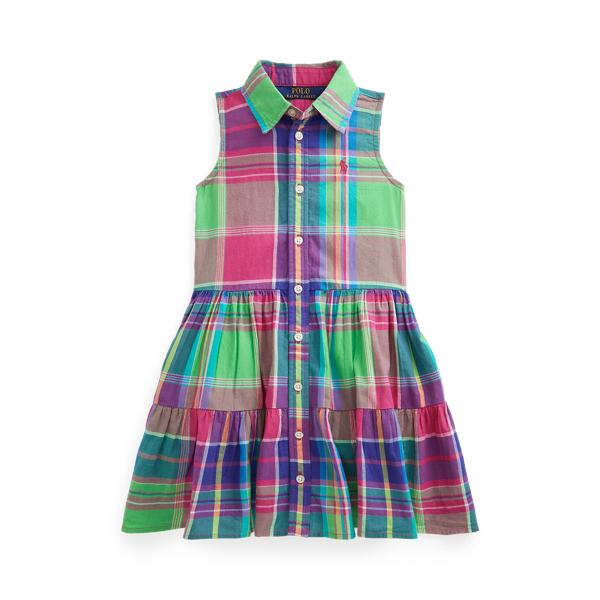 폴로 랄프로렌 여아용 셔츠 드레스 Polo Ralph Lauren Cotton Madras Shirtdress,Pink Multi