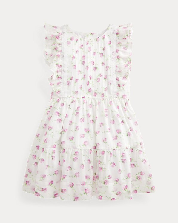 Floral Pintucked Cotton Dress