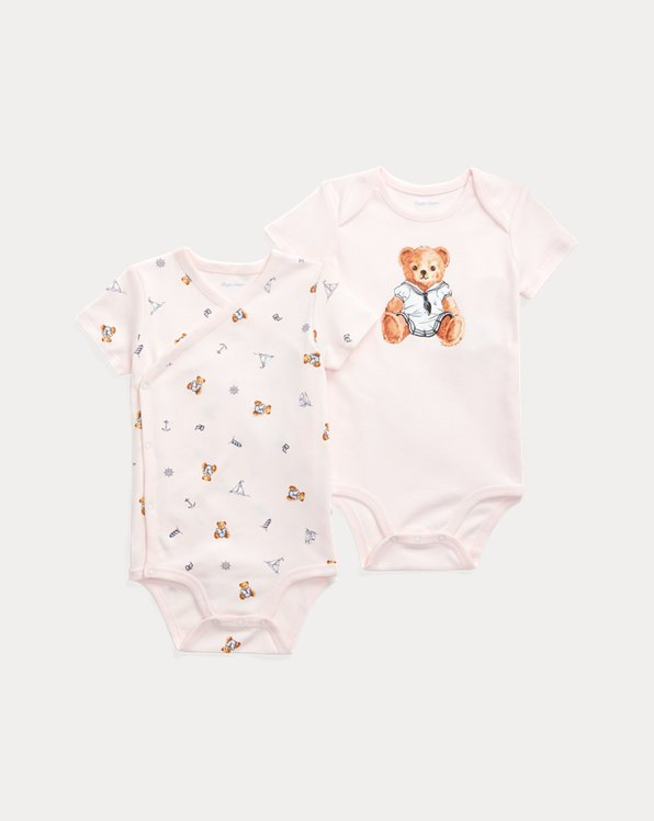 Polo Bear Bodysuit 2-Piece Set