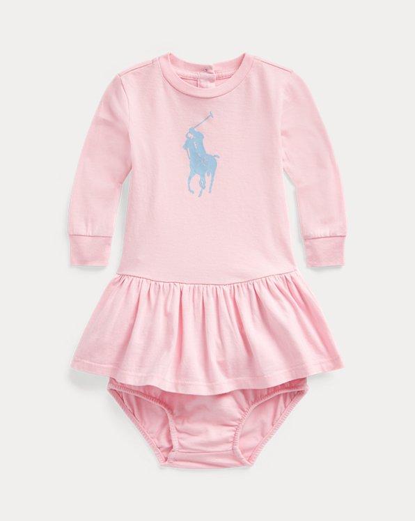 Big Pony Cotton Dress & Bloomer