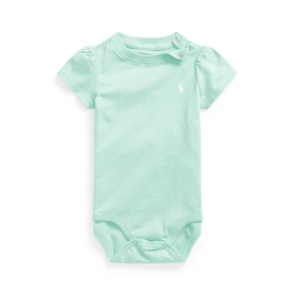 폴로 랄프로렌 Polo Ralph Lauren Jersey Tee Bodysuit,Crystal Blue