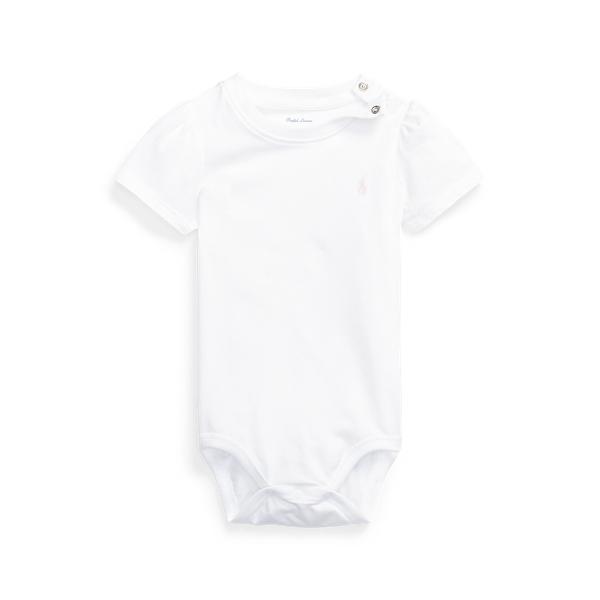 폴로 랄프로렌 Polo Ralph Lauren Jersey Tee Bodysuit,White