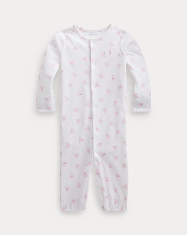 Yacht-Print Convertible Gown Coverall