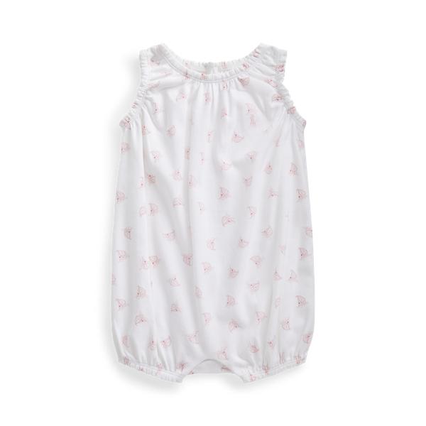 폴로 랄프로렌 Polo Ralph Lauren Sailboat Print Bubble Shortall,White Multi