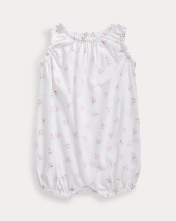 Yacht-Print Bubble Shortall