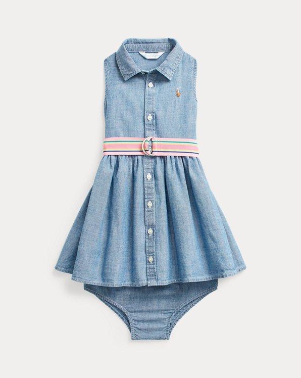 Cotton Chambray Woven Dress