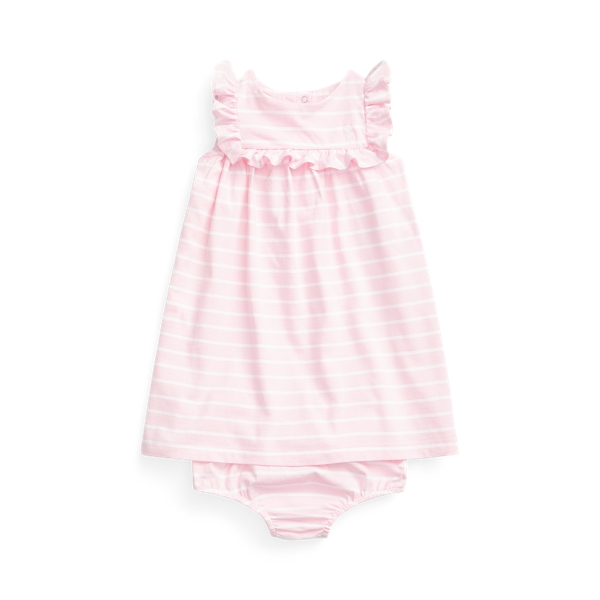 RALPH LAUREN RUFFLED DRESS & BLOOMER