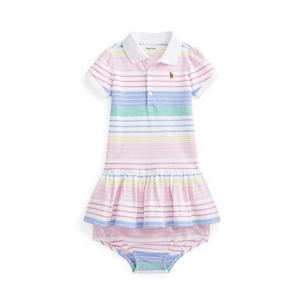 Ralph Lauren STRIPED POLO DRESS & BLOOMER