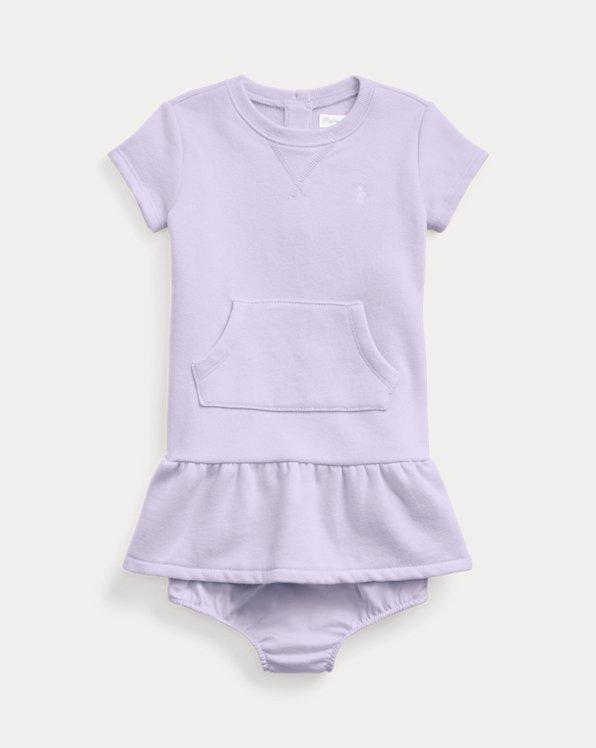 Cotton-Blend-Fleece Dress & Bloomer