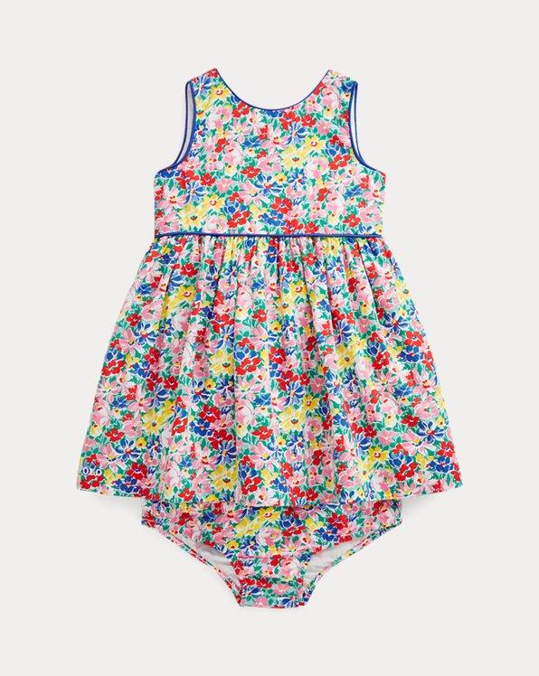 Floral Poplin Dress & Bloomer