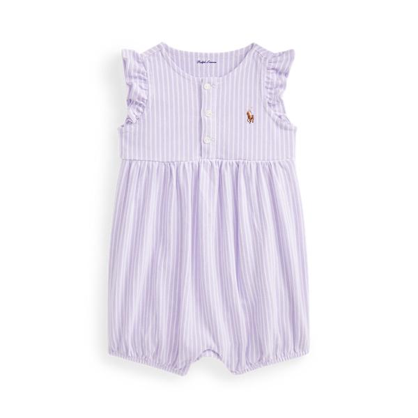 폴로 랄프로렌 Polo Ralph Lauren Oxford Mesh Bubble Shortall,Purple/White