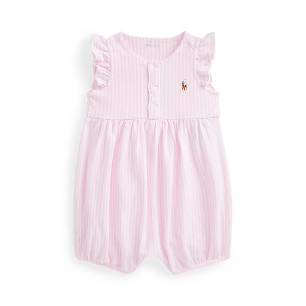 폴로 랄프로렌 Polo Ralph Lauren Oxford Mesh Bubble Shortall,카멜 Carmel Pink/White