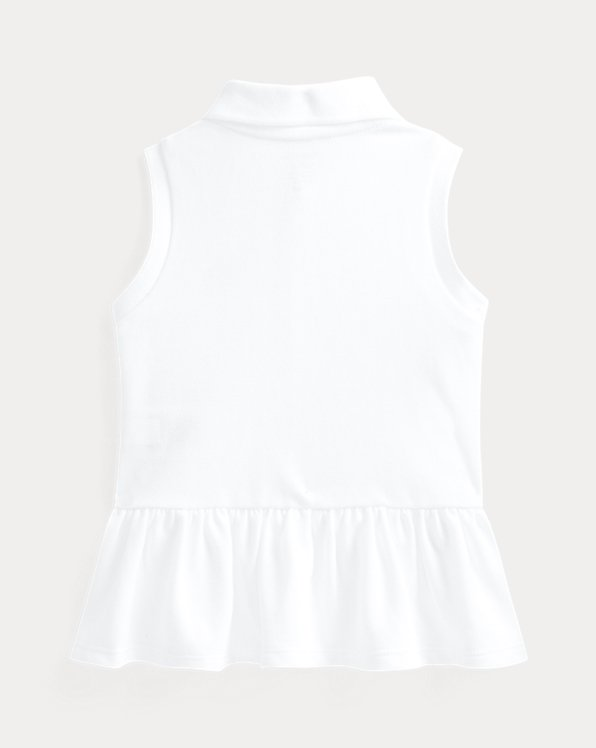 Mesh Sleeveless Polo Shirt