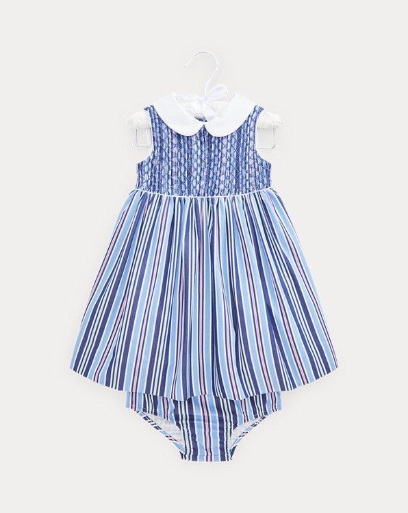 Smocked Poplin Dress & Bloomer