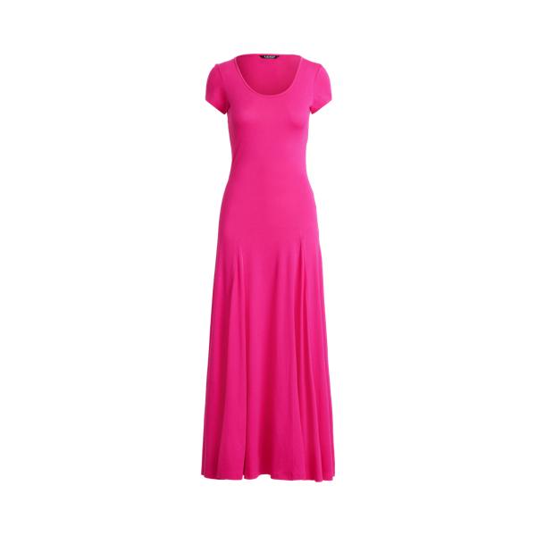 Lauren Cotton Blend Maxidress,Nouveau Bright Pink