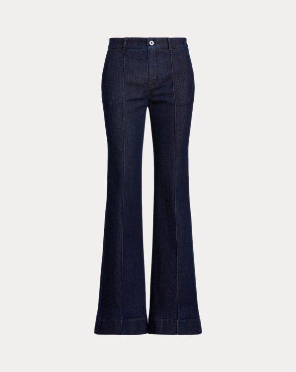 Ausgestellte Jeans mit Druck