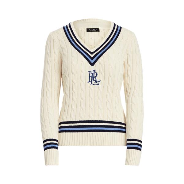 로렌 랄프로렌 스웨터 Polo Ralph Lauren Logo Cricket Sweater,Mascrm/Fnvy/Cbl