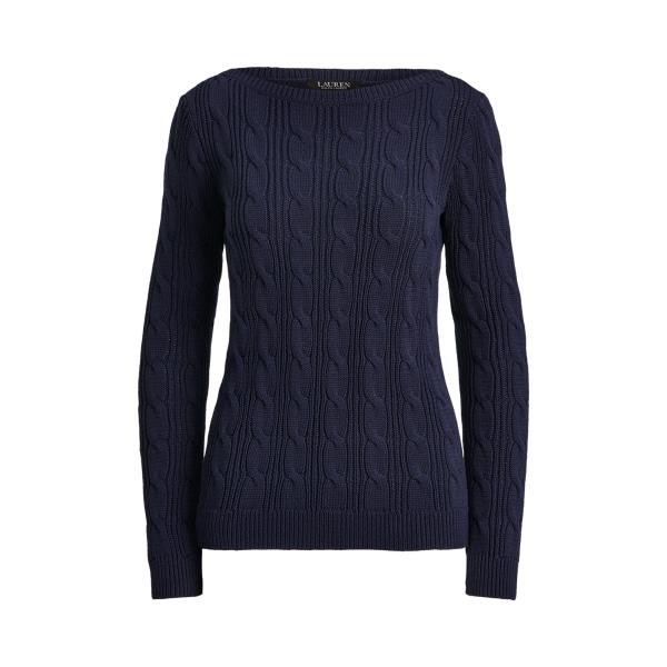 로렌 랄프로렌 꽈배기 스웨터 Polo Ralph Lauren Cable-Knit Cotton Boatneck Sweater,French Navy