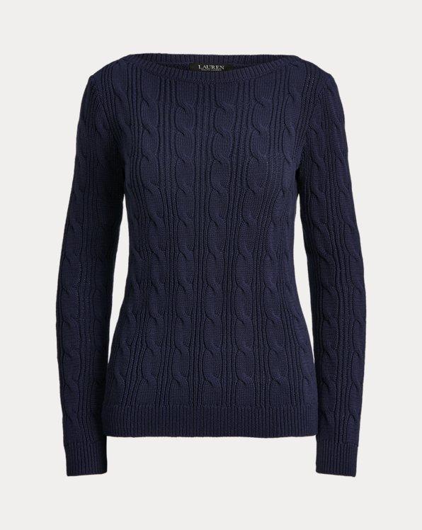 Cable-Knit Cotton Boatneck Jumper