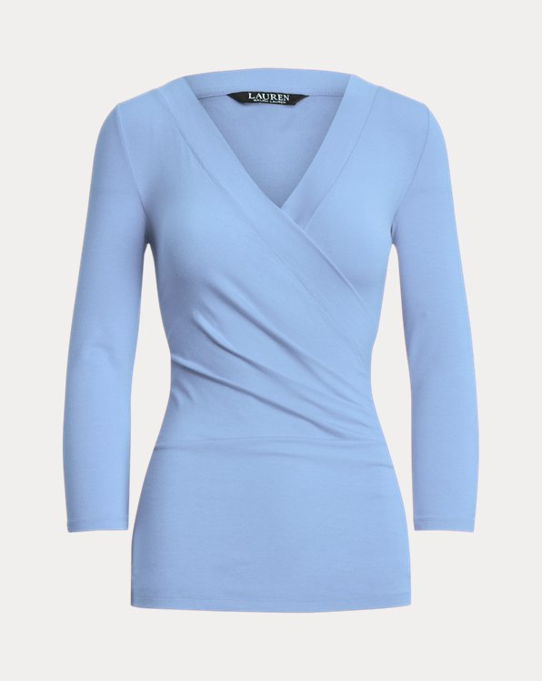 Wrap-Style Jersey Top