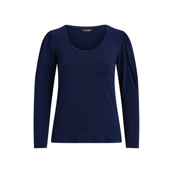 Lauren Stretch Jersey Long Sleeve Top,French Navy