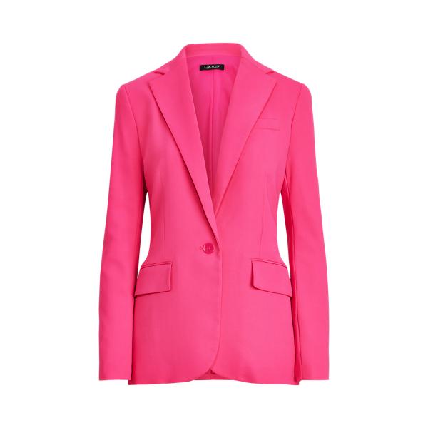 로렌 랄프로렌 블레이저 Polo Ralph Lauren Crepe Blazer,Nouveau Bright Pink