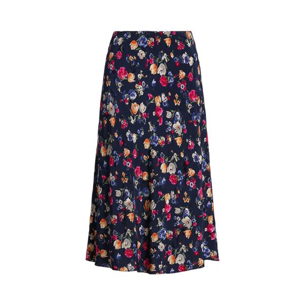 Lauren Floral Jacquard Skirt,French Navy Multi