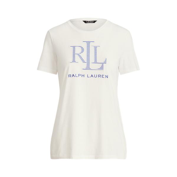 Lauren Logo Cotton Blend Tee,White