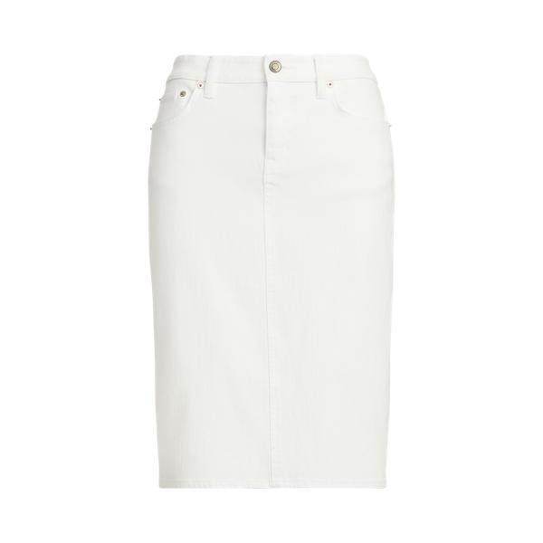 Lauren Denim Skirt,White Wash