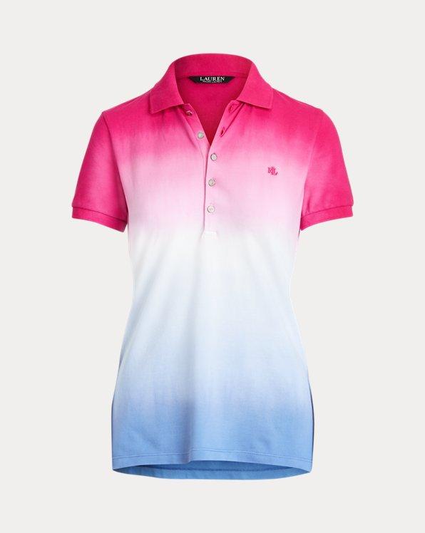 Dip-Dyed Piqué Polo Shirt