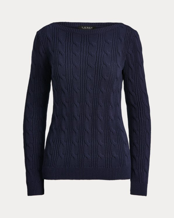 Cable-Knit Cotton Boatneck Jumper