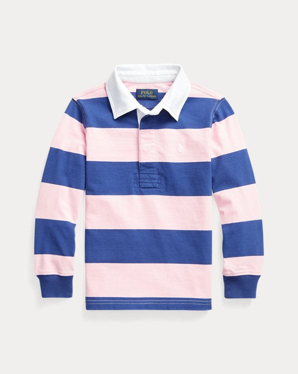 Striped Cotton Jersey Rugby Shirt