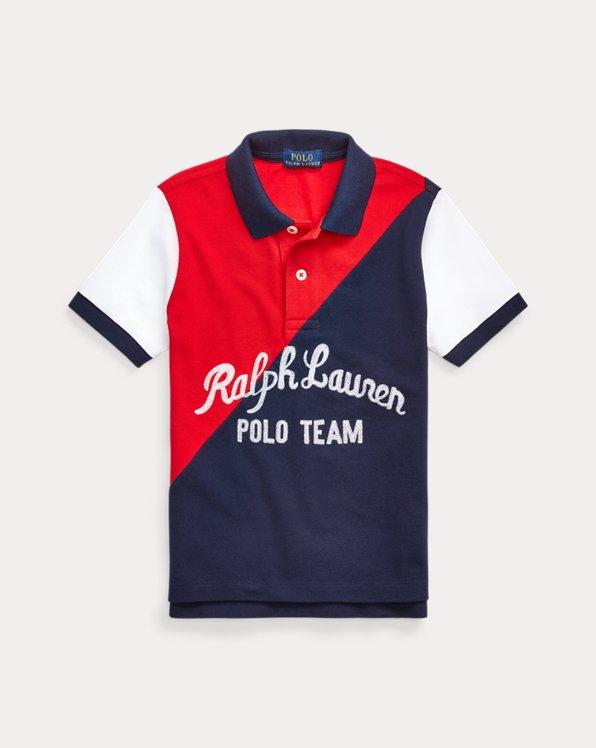 Polo Team Cotton Mesh Polo Shirt