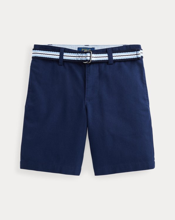 Slim Fit Belted Chino Short