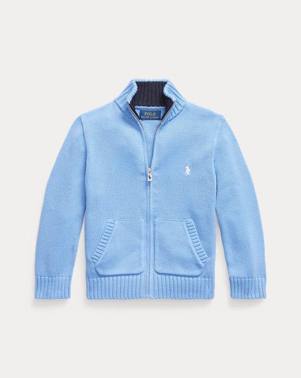 Cotton Full-Zip Jumper