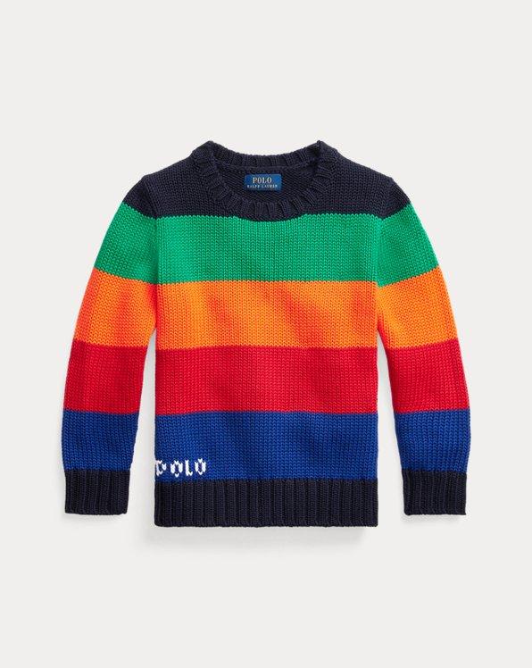 Jersey de algodón con logotipo a rayas
