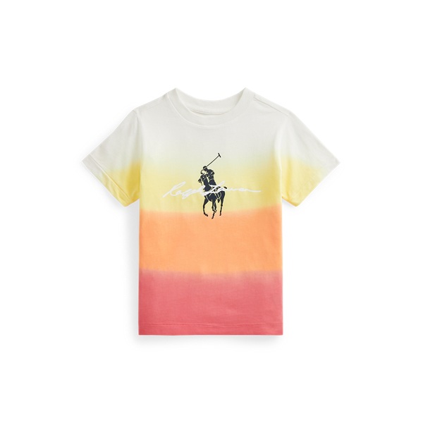 Big Pony Logo Dip-Dyed Cotton T-Shirt
